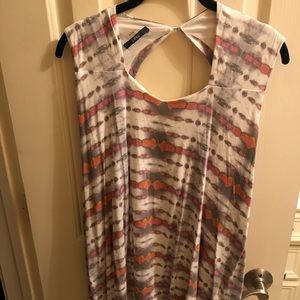 Abstract print Tart sleeveless blouse